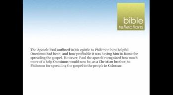 Bible Reflections: Onesimus, Paul and Philemon