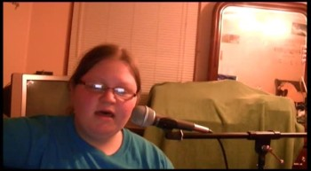 "Makayla Fulmer singing a cover of ""Here i am to worship"""