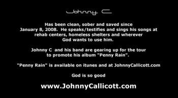 JOHN CALLICOTT ( johnny C ) Behind The Music