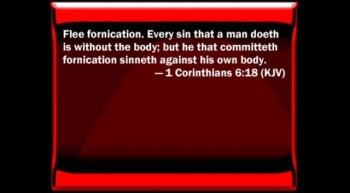 Promiscuity & Homosexual - Its A Sin