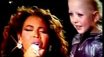 Beyonce Sings to Little Girl with Leukemia - tear jerker