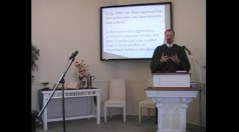 "Catechism: ""Not Now!!"" Rev. R. Scott MacLaren, First Presbyterian Church, Perkasie, PA 9/09/12"