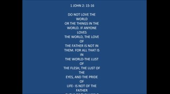 1 JOHN 2:15-16
