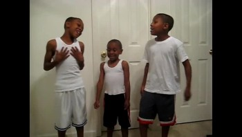 Adorable Twins and Little Brother Sing Gospel