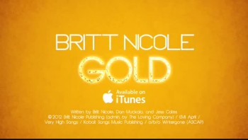 Britt Nicole - Gold (Lyric Video)