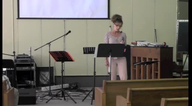 September 8, 2012 Kristie Stewart -Sermon on Humility