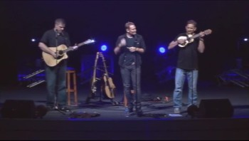 Tim Hawkins, Jonnie W and me trying out another tweet song