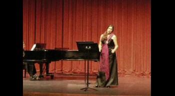Opera Singer sings quot;O mio babbino caro