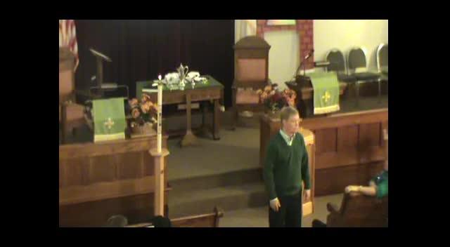 October 7, 2012 Sunday Service, First Presbyterian, Lancaster WI