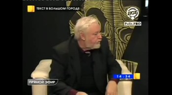 "Interview with writer Boris Almazova in the TV program ""The text in the City."""