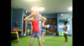Hit By a Ball While Hula-Hooping! Hilarious!
