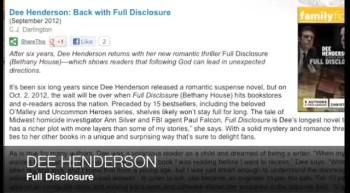 Dee Henderson on FULL DISCLOSURE