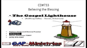 Audio Pulpit Sermon: Believing the Blessing