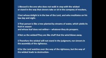 Charles Andrew : Listen & Read - Psalm1