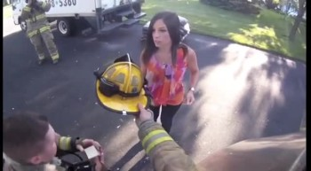 Firefighter Suprises Girlfriend With a Sweet Proposal!