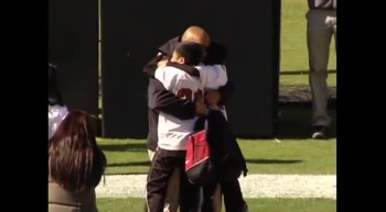 Marine Dad Surprises His Sons During Their Big Moment - Best Halftime Show Ever!