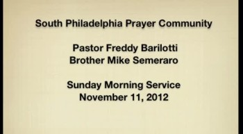 SPPC Sunday Service - 11/11/12