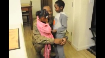Soldier Video Chats With Kids, Then Surprises Them!