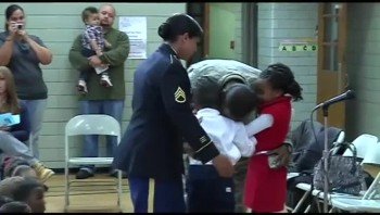 Military Parents Surprise Children at School