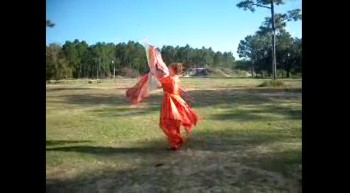 Jeanette Strauss Praise dance with Flags