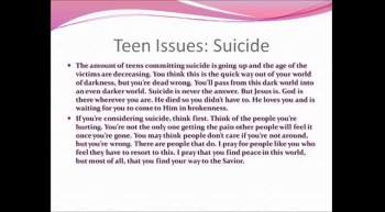 Hope for the teen girl