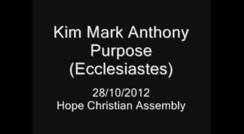 Purpose - Ecclesiastes