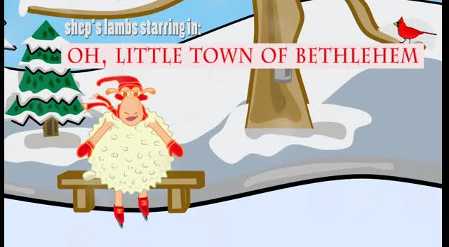 Oh, Little Town of Bethlehem Kids' Video Cartoon