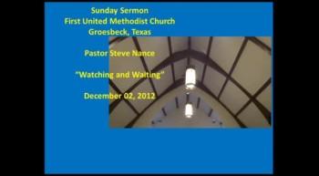 FUMC Sermon - 12/02/2012
