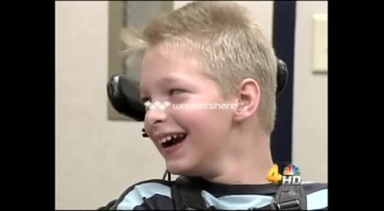 Boy with Cerebral Palsy Plays Football