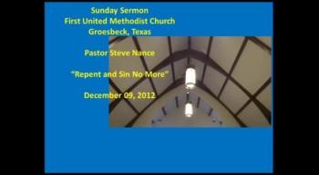 FUMC Sermon - 12/09/2012