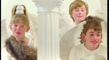 Adorable Children Imagine the Story of Jesus' Birth