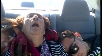 Grandma takes a nap