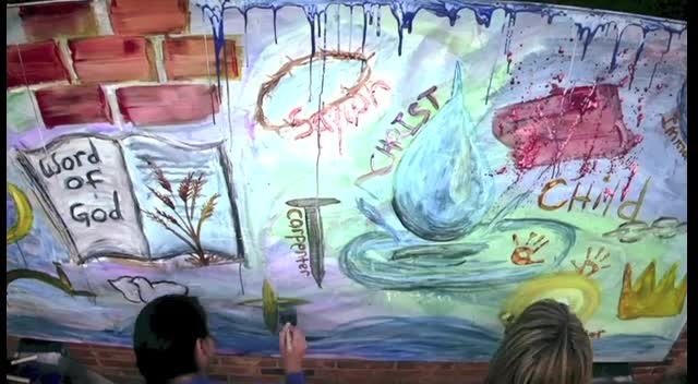 Touching Time-Lapsed Painting of the Names of Jesus!