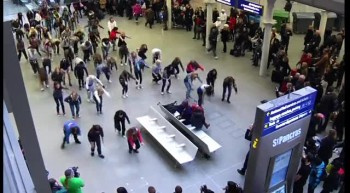 Talented Dancers Stun Travelers With a New Year's Flash Mob!
