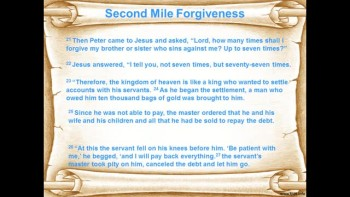 Second Mile Forgiveness