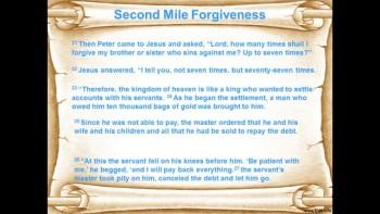Second Mile Forgiveness