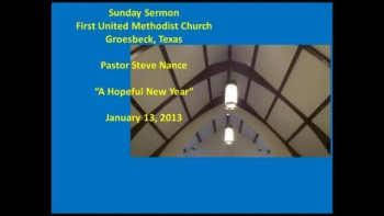 FUMC Sermon - 01/13/2013