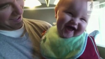 Baby Thinks a Daily Activity is Hilarious!