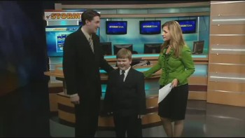 Charming Weather Kid Steals The Show!