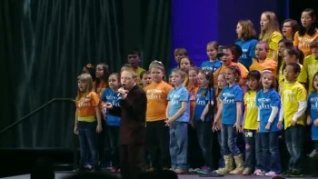 Christopher Duffley Sings Lean on Me With Children's Choir