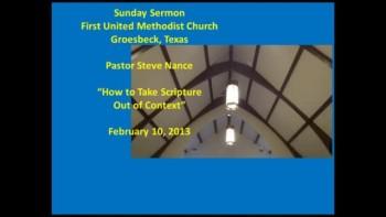 FUMC Sermon - 02/10/2013
