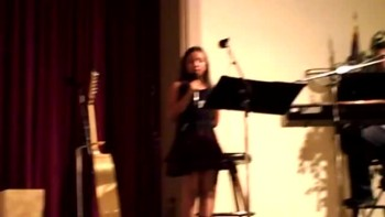 10-year old Sophie sings Angel Wings for Uncle's Memorial (Will Make You Cry)