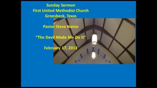 FUMC Sermon - 02/17/2013