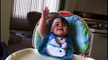 Baby Praising Jesus