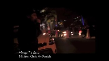 M. Chris McDaniels performing Message To: Game (Rap Artist) In Front of House of Blues @Hollywood,CA 