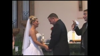 See What Made This Bride and Groom Laugh Uncontrollably During Thier Vows!