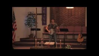 """Amazing Grace""  Levi DeWitt on banjo"
