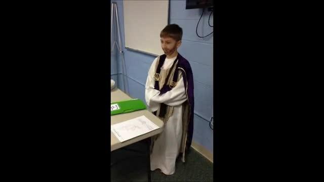 Trey's portrayal of Jesus reciting The Beatitudes!