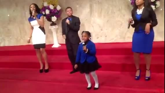 A Sweet 5 Year Old Sings Her Heart Out to Jesus!