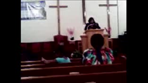 Apostle Penny Montgomery Preaching at Reedemed@ Reedemed Christian Ministries